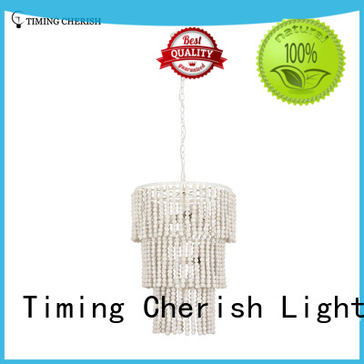 Timing Cherish greywhite fringe chandelier for business for hotel