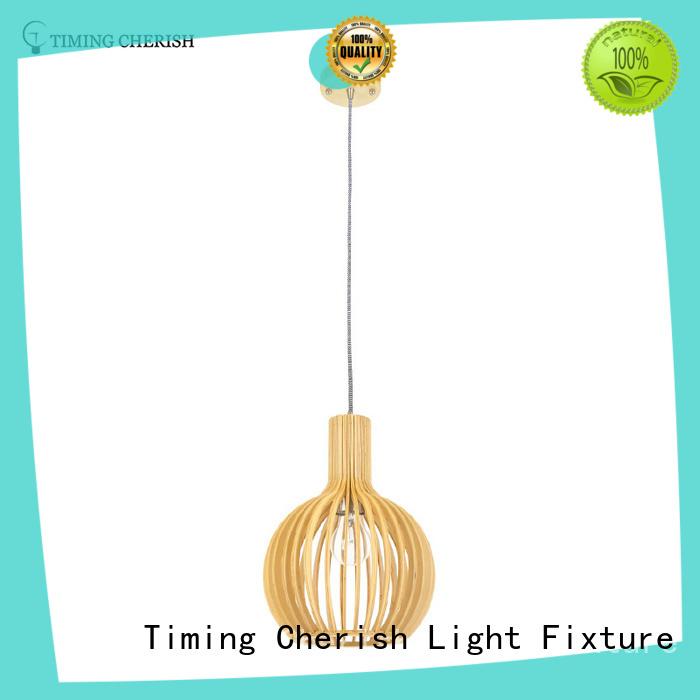 Timing Cherish cord timber pendant light factory for living room