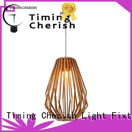 Timing Cherish cord timber pendant light company for living room