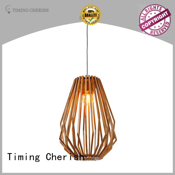 Timing Cherish bead wood veneer lamp customized for shop