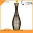Timing Cherish bowling wicker floor lamp supply for bar