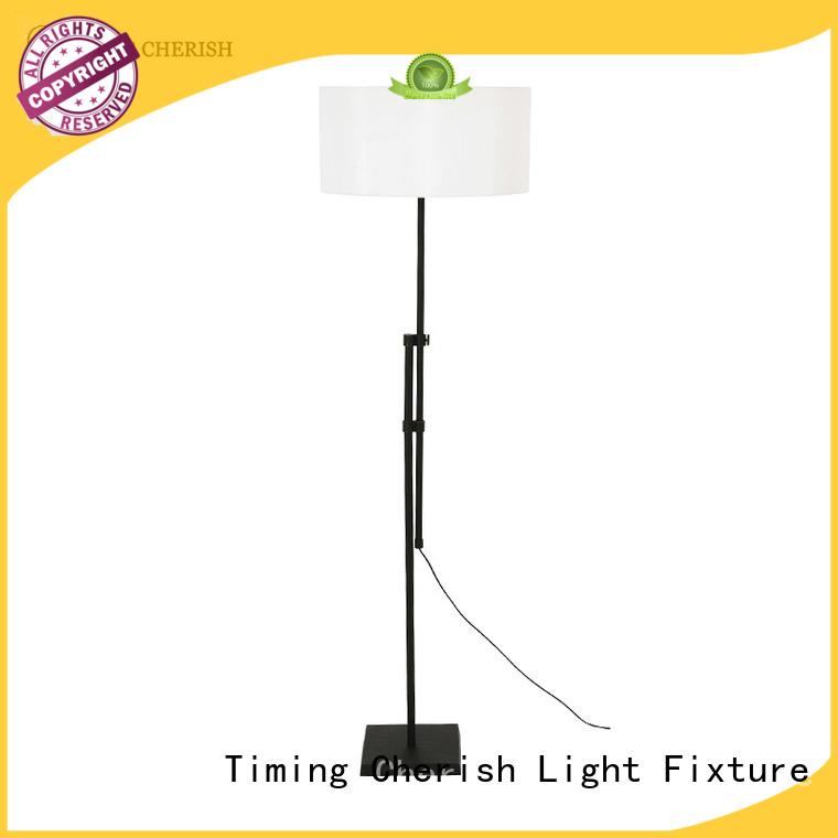 Timing Cherish whiteblack wooden floor lamp factory for bar