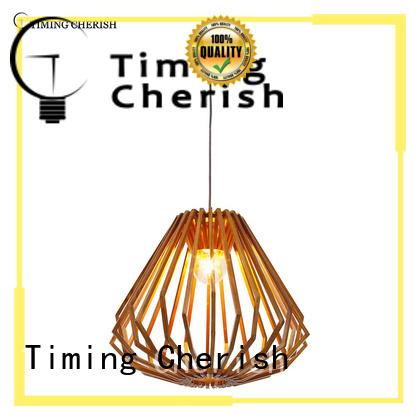 Timing Cherish natural wood pendant light company for living room