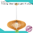 Timing Cherish woven wood pendant light manufacturers for living room