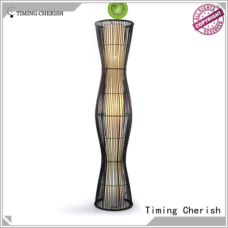 Timing Cherish shade contemporary floor lamps customized for living room