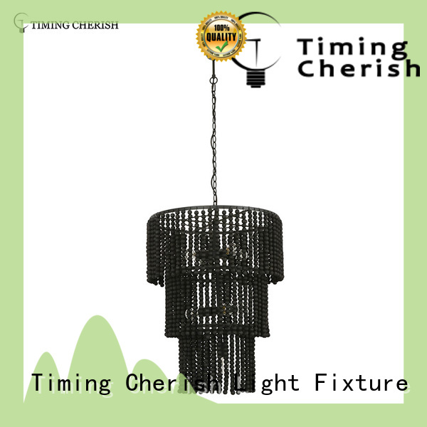 Timing Cherish natural hanging chandelier blackfrench for bar