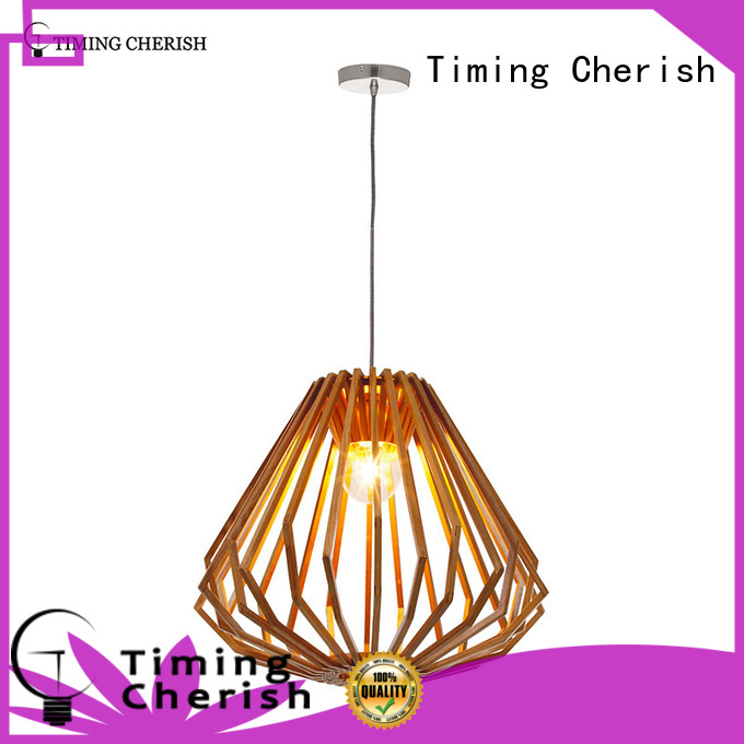 Timing Cherish ceiling wood pendant light supply for home