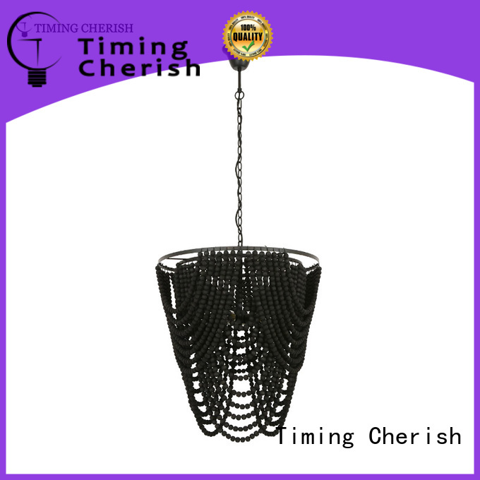 Timing Cherish block fringe chandelier for business for shop