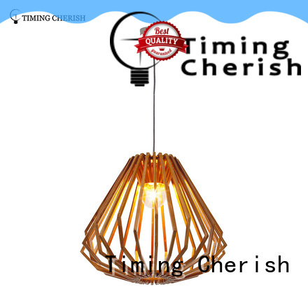 Timing Cherish woven timber pendant light manufacturer for home