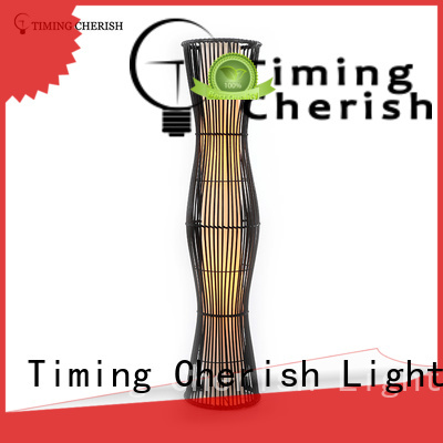 Timing Cherish antique wicker floor lamp supply for home