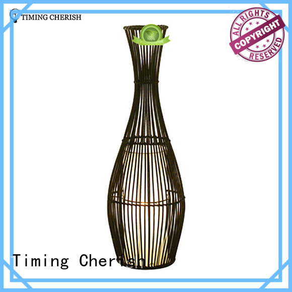Timing Cherish shade wooden floor lamp company for living room
