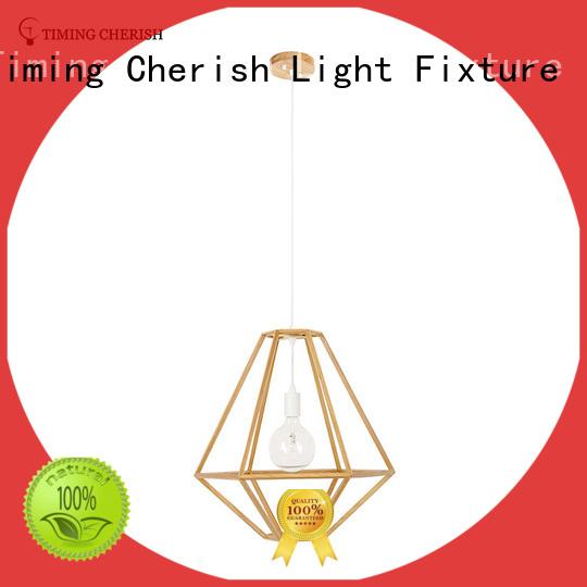 Timing Cherish weaving cotton pendant light fixtures customized for hotel