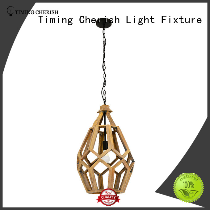 Timing Cherish wood timber pendant light suppliers for shop