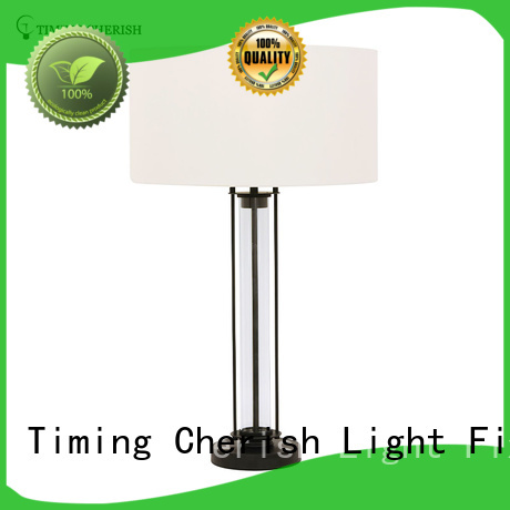 white offwhite grey Timing Cherish Brand column glass table lamp