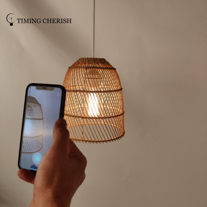 Orelli Natural Material Hand Woven Wicker Hanging Pendant Lamp Interior Design Trends