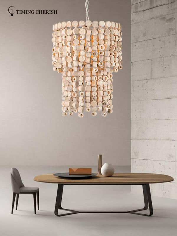 Timing Cherish modern wood bead chandelier suppliers for living room-1