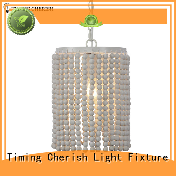 Timing Cherish fringed timber pendant light factory for hotel