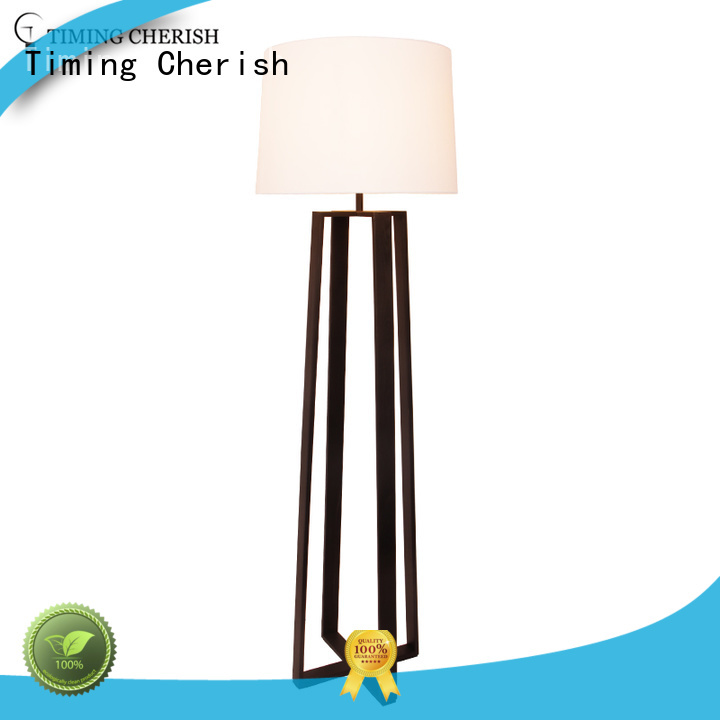 Timing Cherish timber tall floor lamps manufacturers for living room
