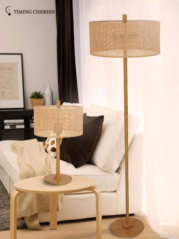Timing Cherish linen wicker floor lamp for business for hotel-1