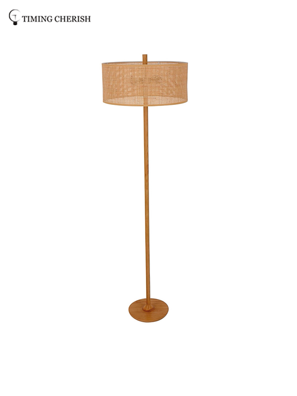 Timing Cherish linen wicker floor lamp for business for hotel-2