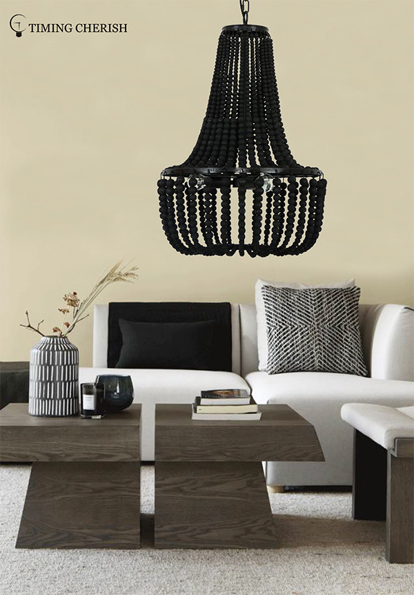 octave beaded pendant light blackfrench factory for bar-1