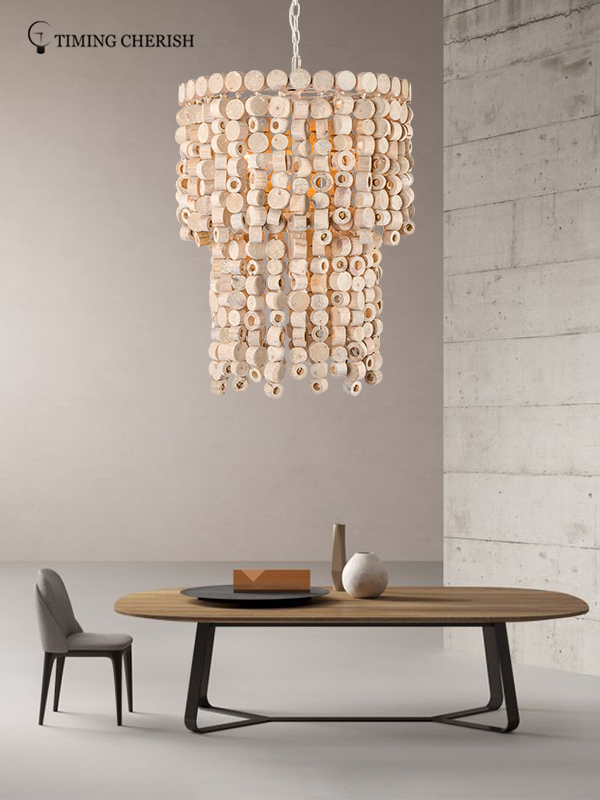Timing Cherish d650mm beaded pendant light for business for bar-1
