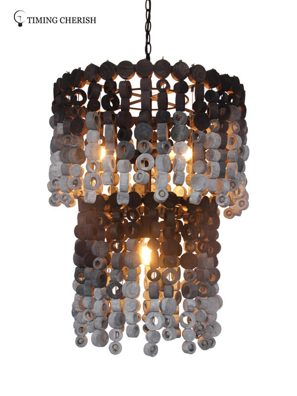 Timing Cherish lamp wood bead chandelier factory for hotel-2