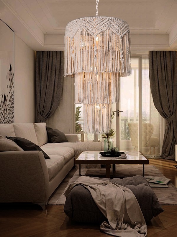oval boho chandelier manufacturer for living room