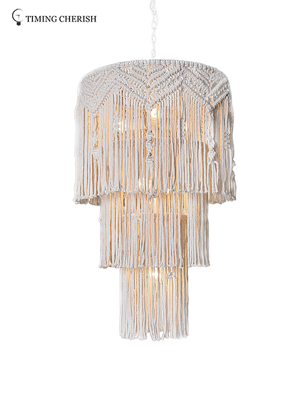 Timing Cherish white fringe chandelier suppliers for hotel-2