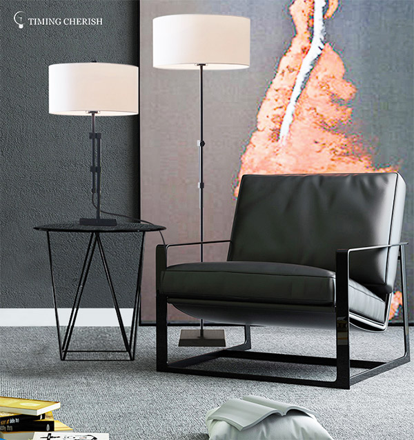 Timing Cherish modern metal floor lamp factory for home-1