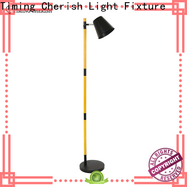 Timing Cherish linen fabric floor lamp factory for living room