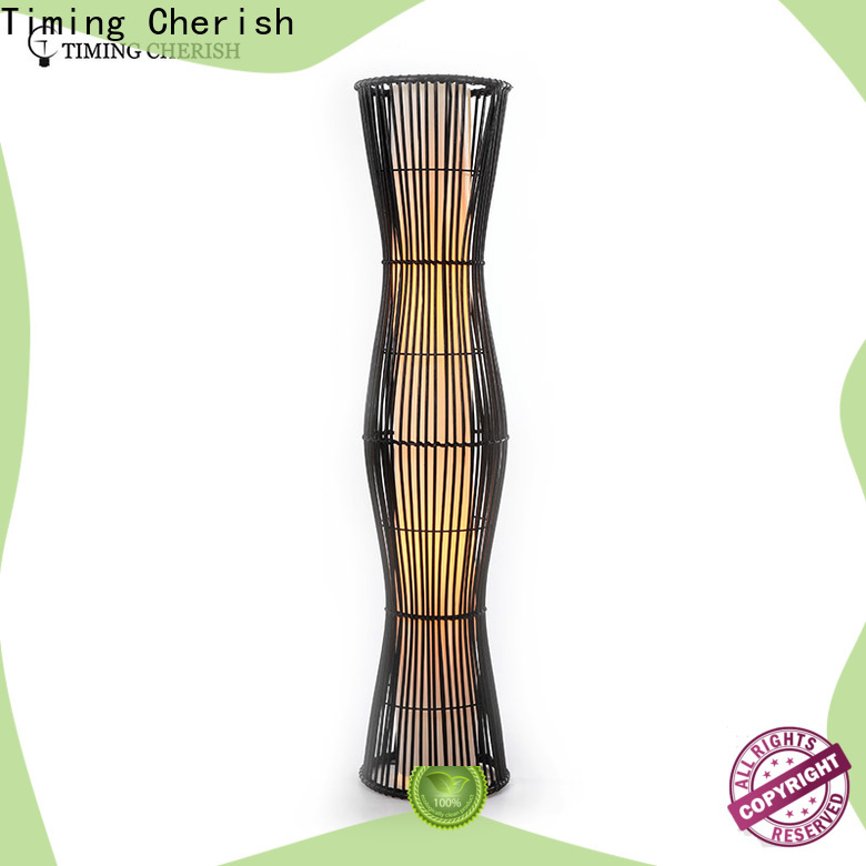 Timing Cherish himalayan wicker floor lamp supply for living room