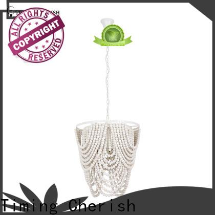 Timing Cherish handmade wood bead chandelier company for bar