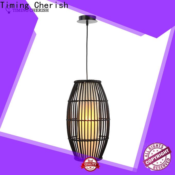 Timing Cherish macrame timber pendant light factory for living room
