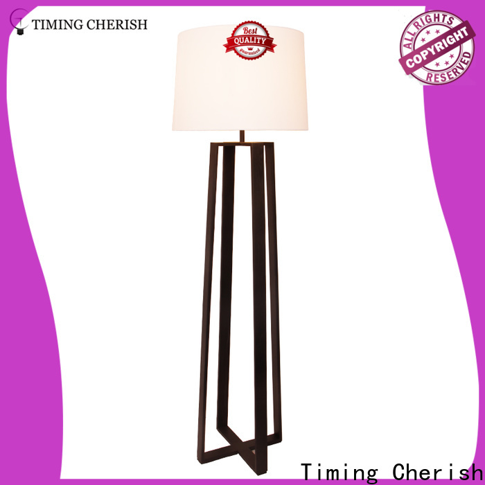 Timing Cherish bowling rattan floor lamp company for living room