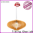 Timing Cherish handcrafted wood pendant light suppliers for shop