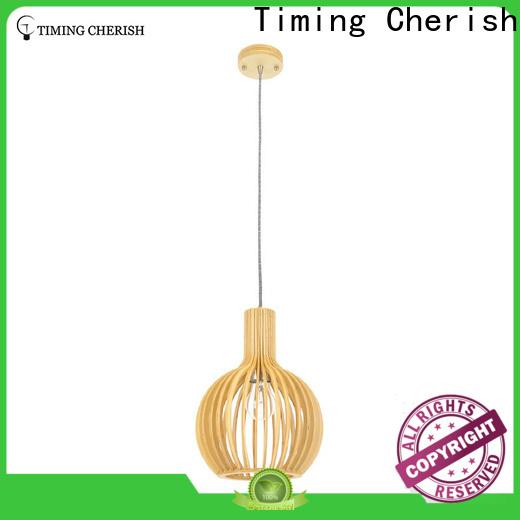 Timing Cherish fringed wood pendant light supply for home
