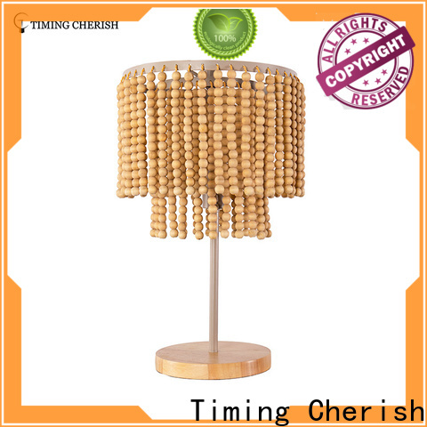 Timing Cherish antique wood table lamp supply for kitchen