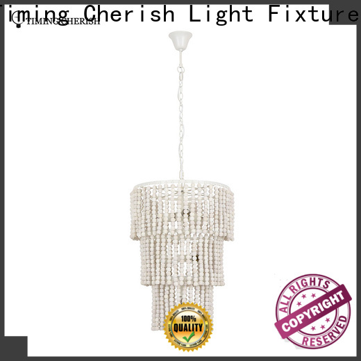 Timing Cherish draped wood bead chandelier for business for shop