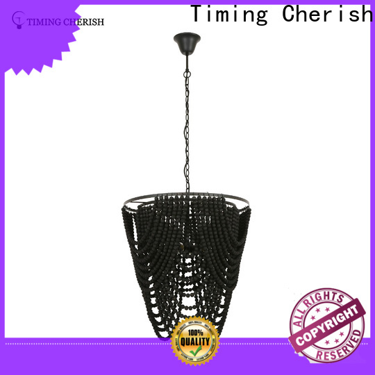 Timing Cherish large wood bead chandelier manufacturers for hotel