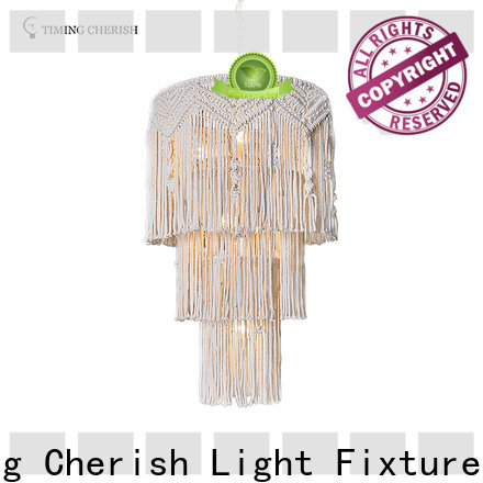 Timing Cherish handmade wood bead chandelier factory for living room