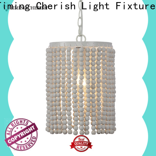 Timing Cherish bead timber pendant light for business for shop