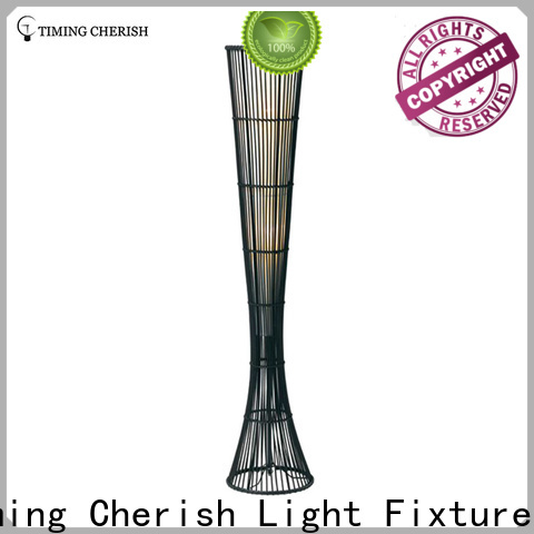 bowling rattan floor lamp rhine for business for living room