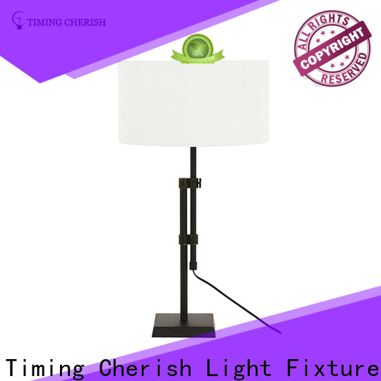 Timing Cherish timber end table lamps factory for living room