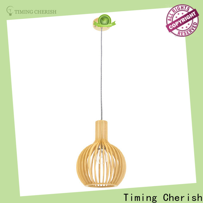 Timing Cherish wood wood pendant light supply for bar