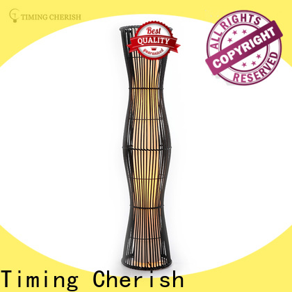 bowling wicker floor lamp black suppliers for home