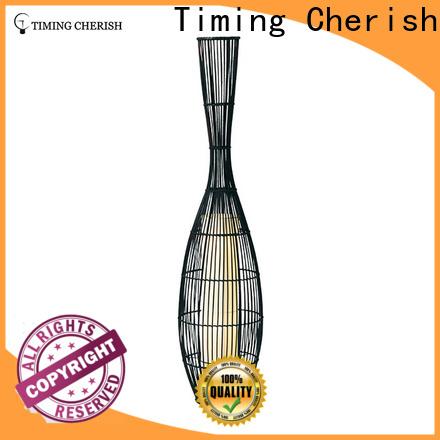 Timing Cherish nickel rattan floor lamp company for hotel