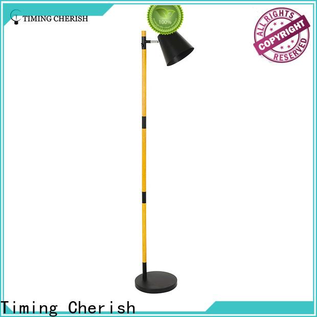 Timing Cherish rattan wooden floor lamp suppliers for living room