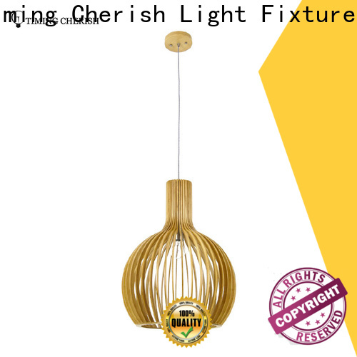fringed wood pendant light timber company for bar