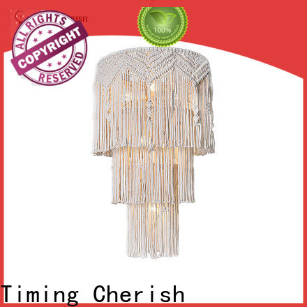 Timing Cherish macrame wood bead chandelier manufacturers for living room